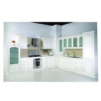 Modern Pvc Kitchen Cabinet With Glass Door Modular Kitchen Cabinet