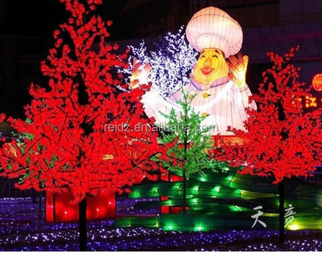 China Led Light Supplier Unique Artificial Maple Leaf Tree Shape ...