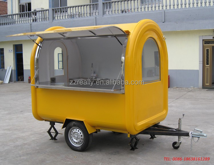 Stainless Steel Mobile Fryer Food Cart Churros Food