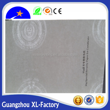 customized security thread award certificate paper buy blank