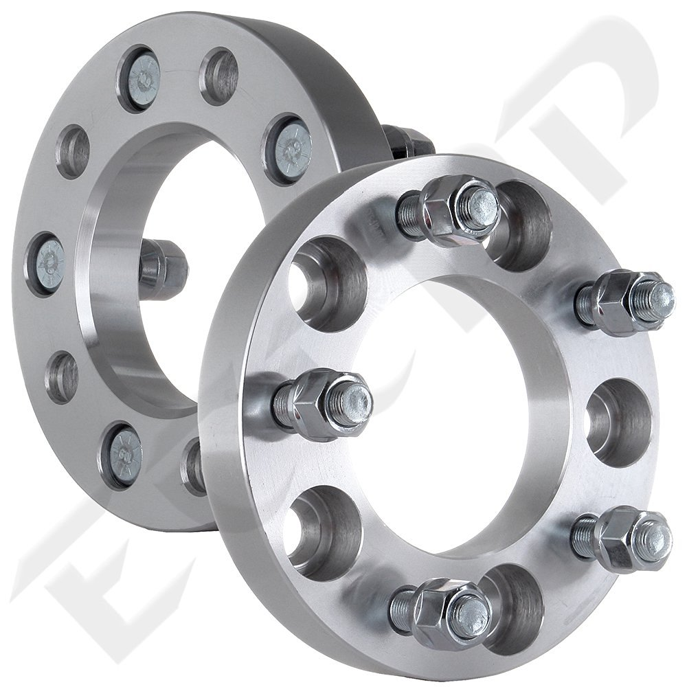 """Scitoo 2PCS 1"""" Inch Wheel Spacers 5x127(5x5) to 5x127 Thread Pitch 1/2""""  Fits 2007 2008 2009 2010 Jeep Commander Grand Cherokee Wrangler"""