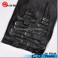 Grade 7A 8A 9A ,Brazilian Hair Extension,Wholesale Unprocessed indian remy clip in hair extensions for african american