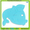 Table decorations fish shaped dining table mats,silicone anti slip hot pot mat
