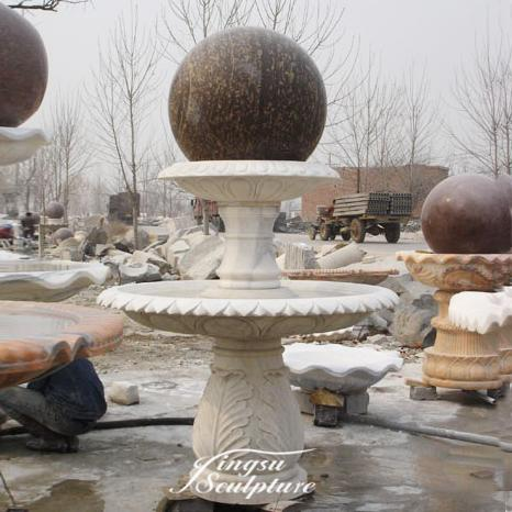 Hot sale outdoor sandstone ball fountain