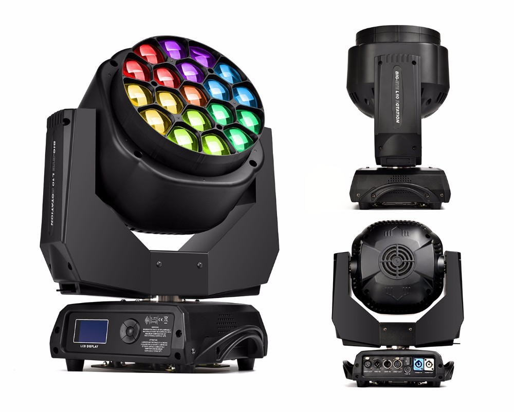 Guangzhou Bee Eye 19pcs 15w Led Moving Head Stage Light,Disco Lighting Equipment