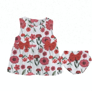 childrens cute floral clothes baby girls high quality clothing sets kids beautiful summer milk silk outfits