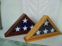 Makey Golden Supplier American Wood Flag Case