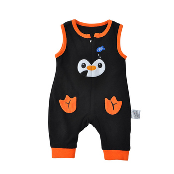 8311273b1ca1 Summer Baby Romper Penguin Polar Fleece Zipper Baby Boys Jon ...