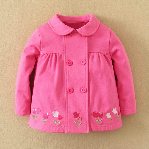 MOM AND BAB kids wear 2014 for baby girls, cotton jackets girls 12m-6T