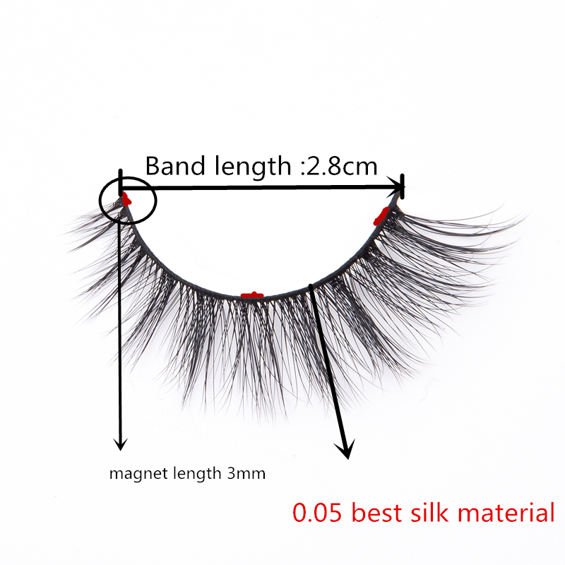 49a8f67fb40 Special Handmade Korean 3D Silk Mink magnetic eyelashes product False  Eyelash Magneettiripset