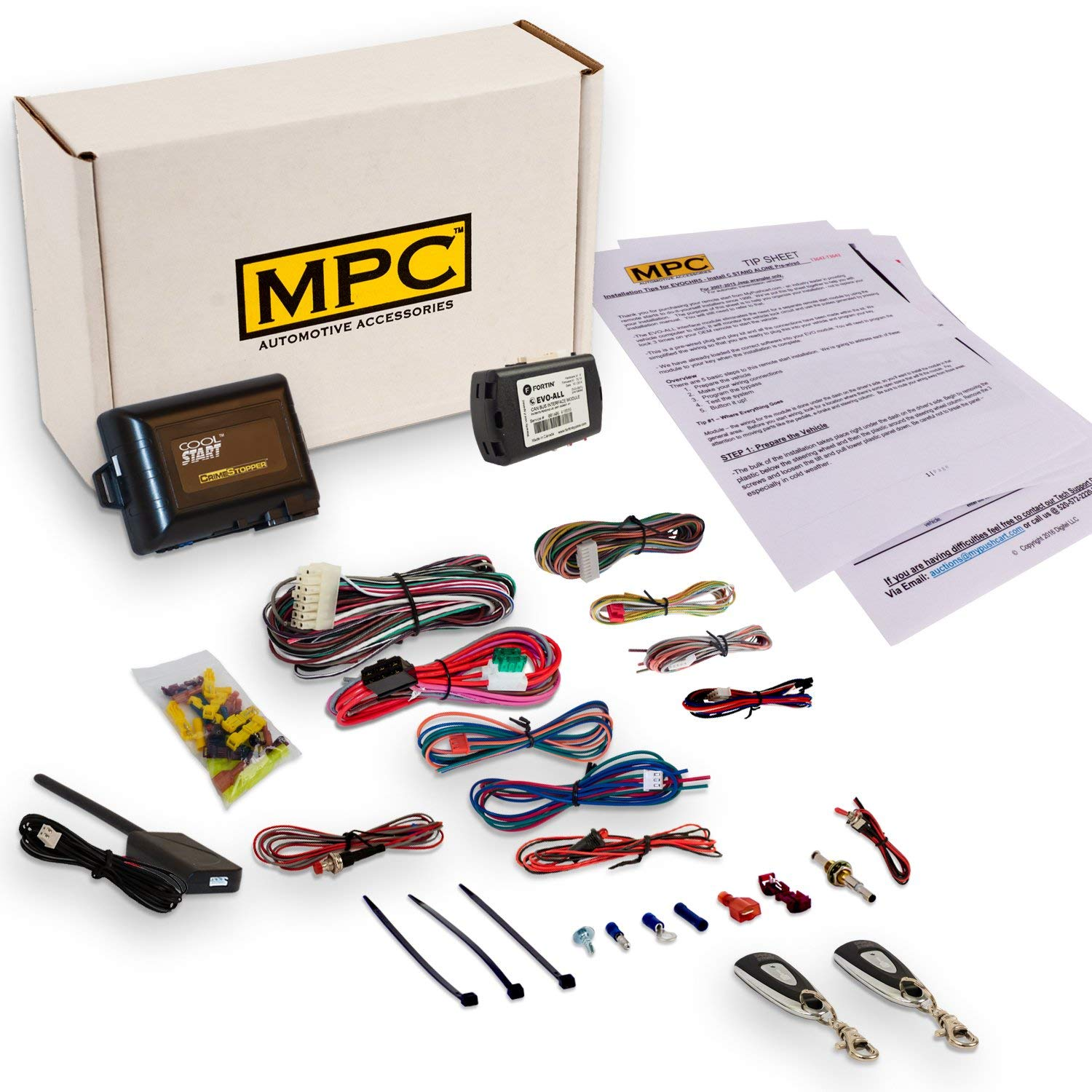 Get Quotations Mpc Complete 1 On Remote Start Kit For 2017 Toyota Sienna With Key