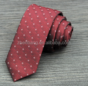 Mens silk fabric necktie handmade jacquard business skinny ties