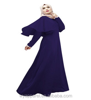 Factory supply free shipping islamic clothing muslim long dress muslim women plain color maxi dress