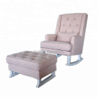Hot Sale Living Room Furniture Fancy Leisure Sofa Rocking Chair with Footrest Ottoman