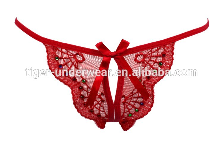 2016 new ladies g-string open crotch thong women panties