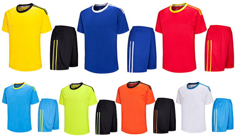 2020 Lidong ขายส่งมาใหม่ผู้ชาย/เด็กทีมฟุตบอลเครื่องแบบที่มีคุณภาพสูงสีดำสีเหลืองเสื้อฟุตบอล