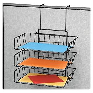 """Wholesale CASE of 10 - Fellowes Partition Additions Triple Trays-Triple Tray Partition,13-1/2""""x10-5/8""""x11-7/8""""-17-7/8"""",Black"""