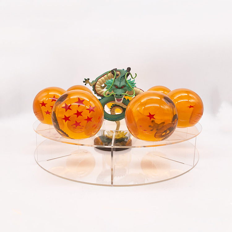 Dragon Ball Z 7 Estrelas Crystal Glass Ball 7.6cm Resina Dragon Set