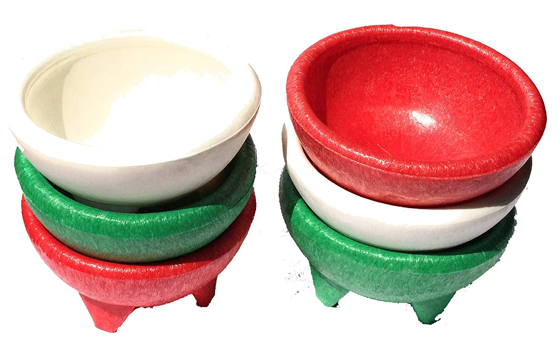 12-Ounce Winco Molcajete Salsa Plate Set