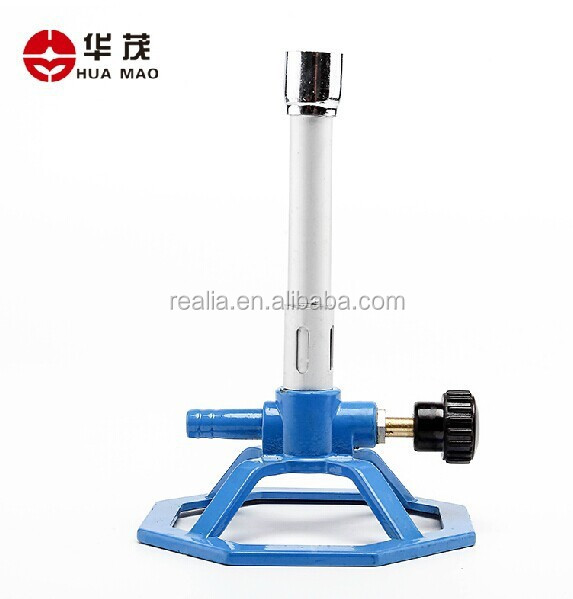 HML013 Ningbo Huamao Bunsen Burner with Air Regulator and Needle Valve Liquid Propane and Bottle Gas