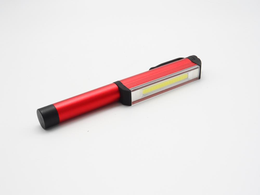 Aluminum Inspection COB Pen Light with Rotating Magnetic Clip