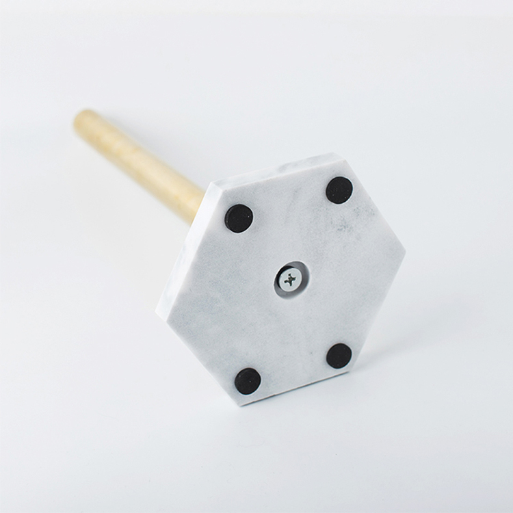 Fabriek Groothandel Jumno Roll Papieren Handdoek Houder Nieuwe Marmer Base Rvs Staande Papieren Handdoek Houder