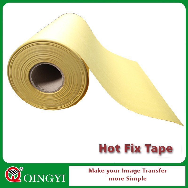 yellow paper hot fix tape roll for t-shirt