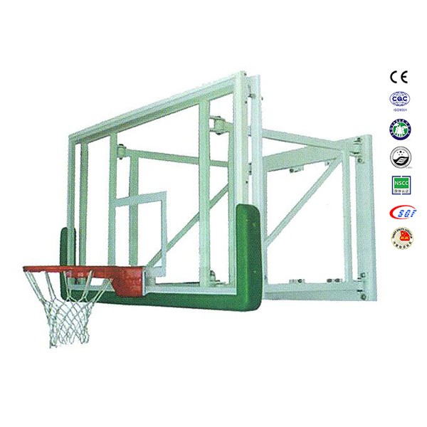 Good basketball hoop wall mounting basketball backstop with basketball rim