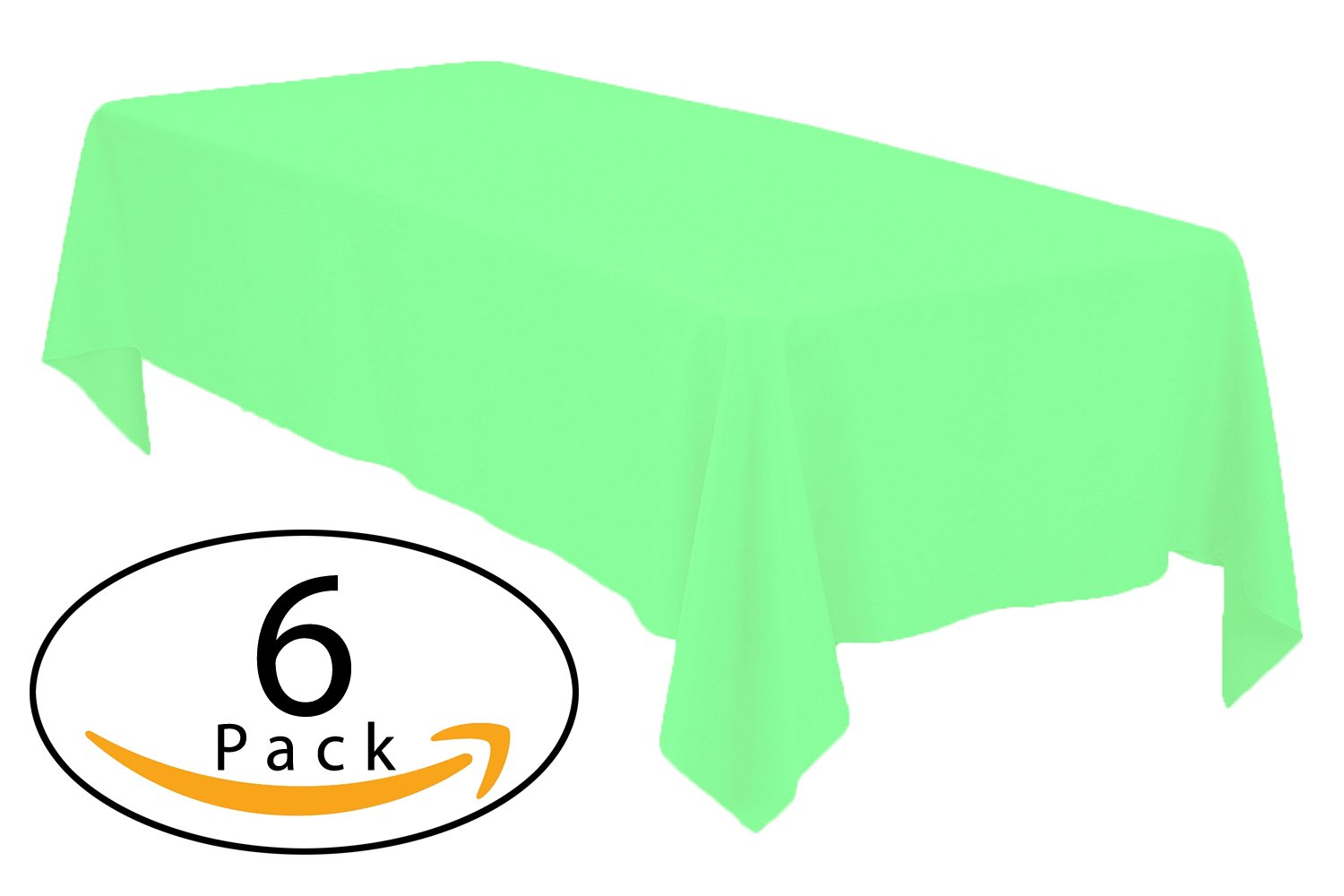 Get Quotations · Minel Disposable Party Table Cloths Rectangular 6 Pack Lime  Green