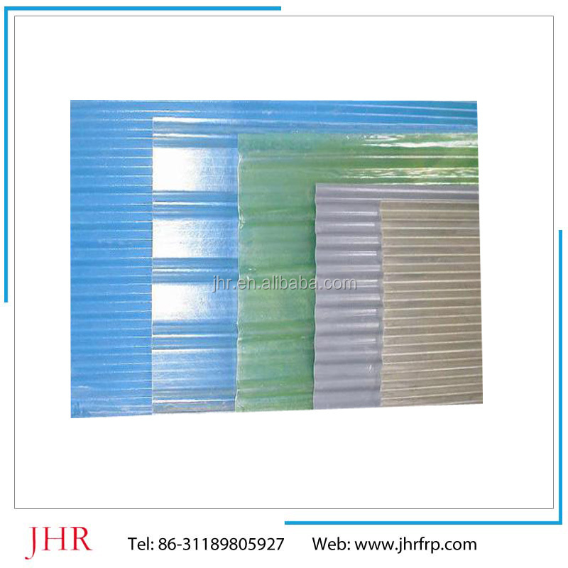 Heat preventional high light Rate fiberglass sheet, glass fiberglass reinforced plastic FRP sheet roofing