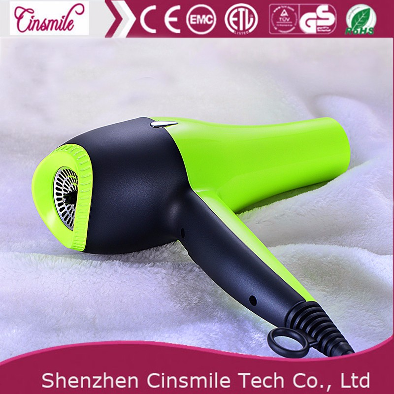 Competitive price green hair dryer with soft painting JD-085