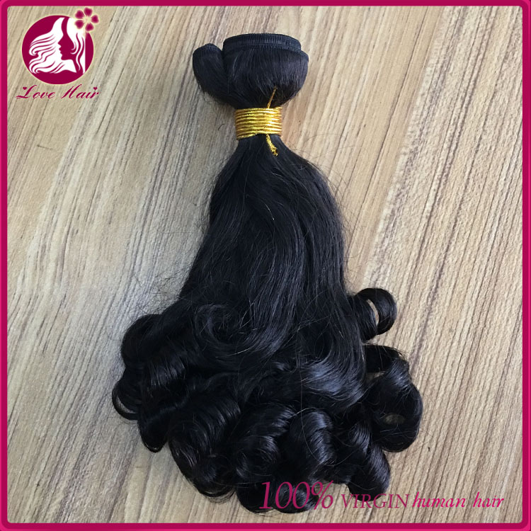 single donor virgin malaysian Funmi curly no tangle no shed hair weave
