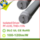 UL DLC 36W 40W 2400mm 96 inch T8 8 ft 8ft led tube with single pin FA8 led lights from USA warehouse