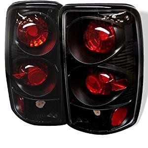 Carpart4u Chevy Suburban/Tahoe 1500/2500 / GMC Yukon/Yukon XL / GMC Yukon Denali/Denali XL ( Lift Gate Style Only ) Euro Style Black Tail Lights & LED Day Time Running Light Package