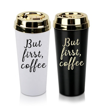 wholesale promotional cheap plain white christmas plastic custom coffee mug import from china rose gold mug