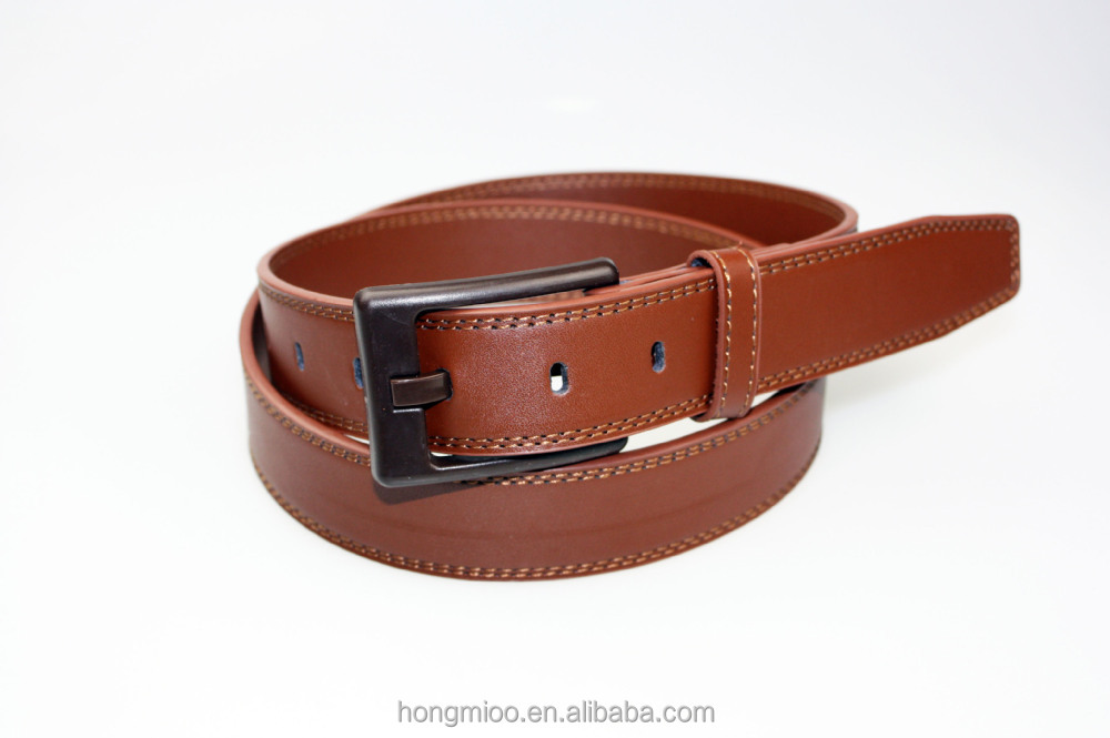 No Metal Leather Belts With Plastic Belt Buckle