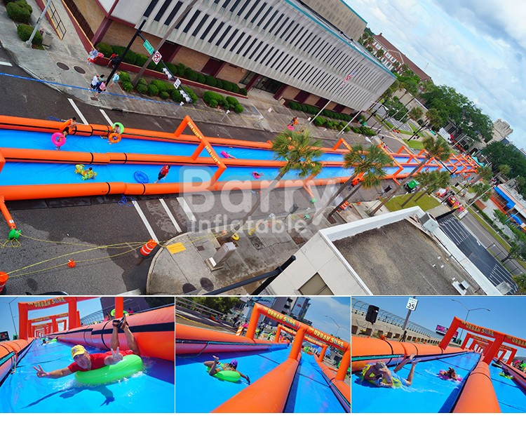 Slide Type Inflatable Water Slip and Slide ,slide the city China factory