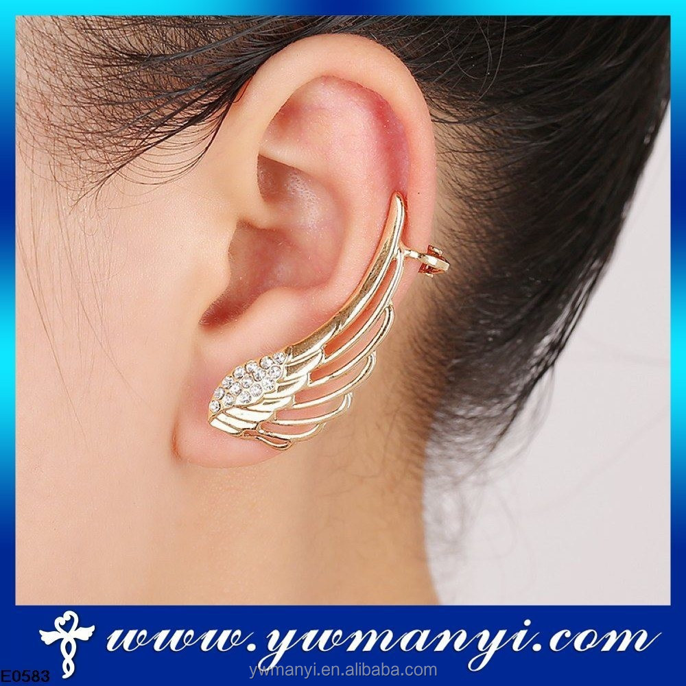 Wholesale hot sale angel wing shaped <strong>earring</strong> cheap ear clip cover ear <strong>earrings</strong> SE00020