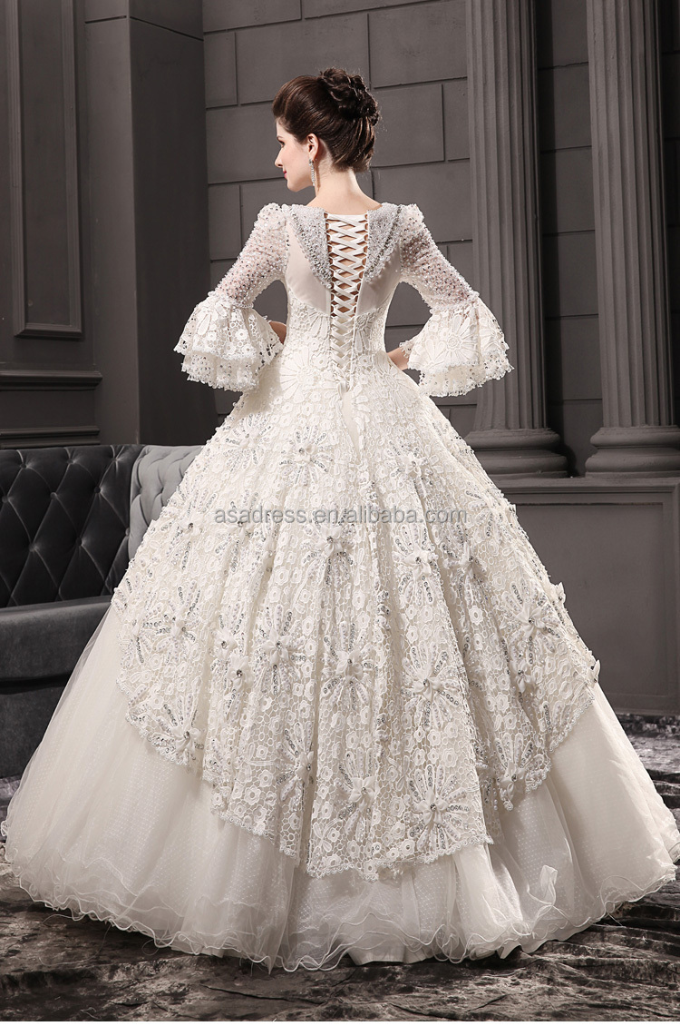 Msl129 vintage islamic long sleeve ball gown heavy beading lace msl129 vintage islamic long sleeve ball gown heavy beading lace muslim wedding dress ombrellifo Image collections