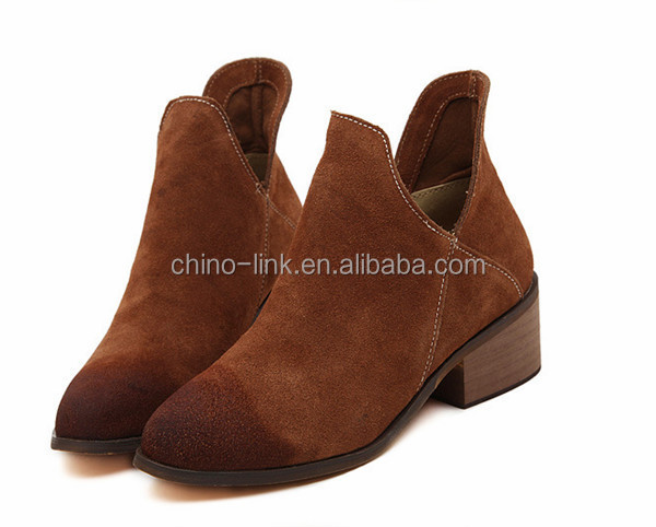 Nubuck leather boots 2014, woman leather boot