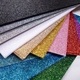 Glitter topped acrylic board 12 sheet pack gold silver pink blue green red white