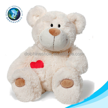 2015 Factory Supplier Love Toy Plush White Soft Stuffed Valentines