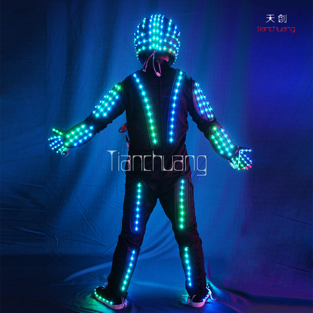 Black Latex Leotard, Waterproof LED Suit, Event & Circus Performance Costumes