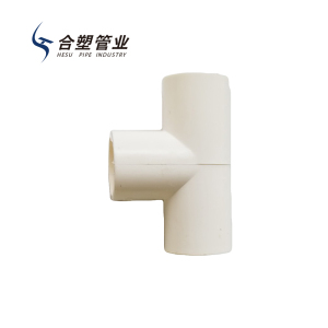 High Temperature Resistant PVC Pipe Fittings Equal Tee and Elbow Fitting for Drainage System
