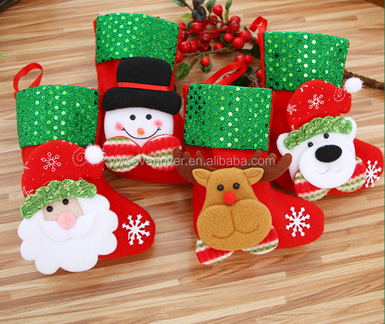Christmas decorations lovely santa claus snowman chrismas hanging socks