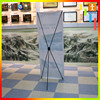 Fabric heat sublimation x-banners for sales promotion and advertisiment