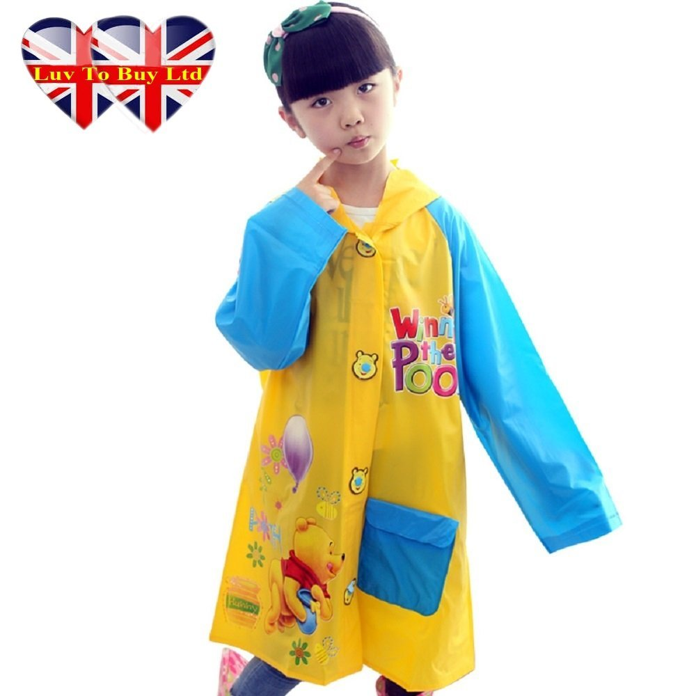 Winnie The Pooh Raincoat/,Children Raincoat , Waterproof.(4 Sizes : S , M , L , XL) (XL)