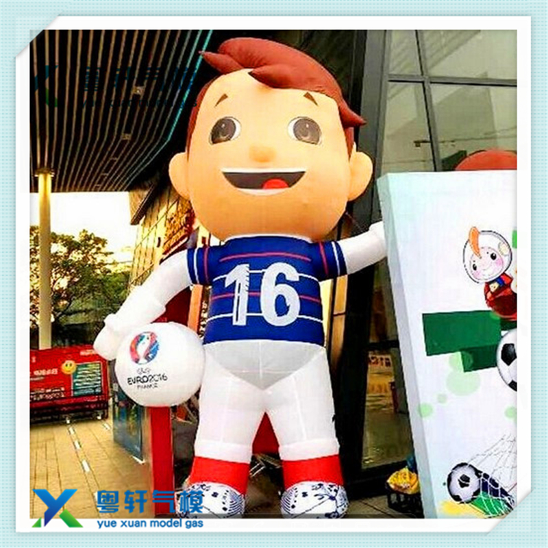 Custom inflatable doll/inflatable soccer player for event party