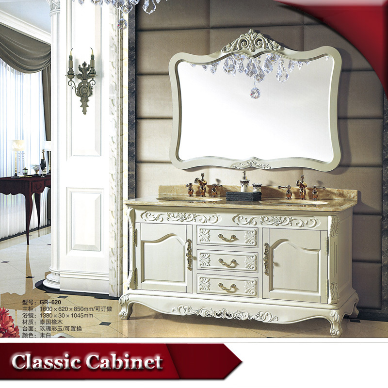 lovely Double Sink Vanity Sets Part - 11: HS-G620 double sink vanity top- wood double sink vanity- antique bathroom  vanity