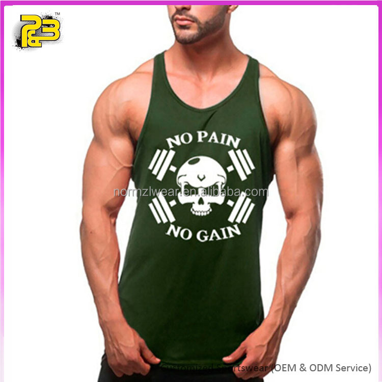 Sexy printed men fitness apparel gym tank tops private label custom